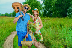 Enamored couple Royalty Free Stock Photography