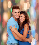 Enamored couple hugging Royalty Free Stock Photos