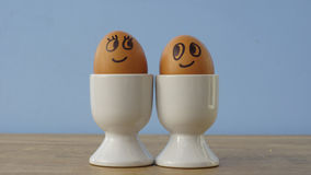 Enamored eggs Royalty Free Stock Photo