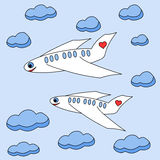 Enamored planes Stock Photography