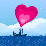 Enamoured in a boat Royalty Free Stock Images