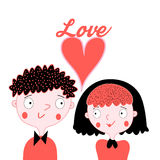 Enamoured boy and girl Royalty Free Stock Photos