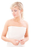 Enamoured bride in profile Royalty Free Stock Image