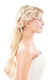 Enamoured bride in profile Stock Photos