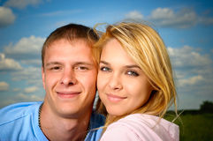 Enamoured couple Stock Photography
