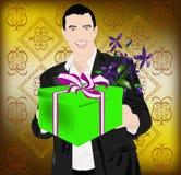 The enamoured elegant man Royalty Free Stock Photo