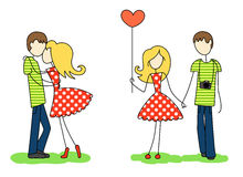 Enamoured guy and girl Stock Images