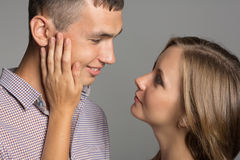 Enamoured guy and girl Royalty Free Stock Photography