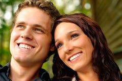 Enamoured pair closeup Stock Images