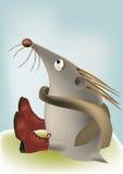Enamoured sad hedgehog Royalty Free Stock Images