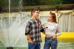 Enamoured teenagers. Stock Images