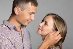Enamoured young man and woman Stock Image