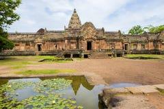Enarene el castillo de piedra, phanomrung en la provincia de Buriram, Tailandia imagen de archivo