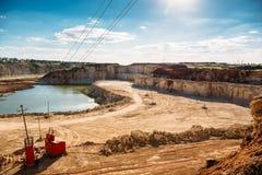 Enarene el paisaje de la mina, ambiente de la mina, industria Imágenes de archivo libres de regalías