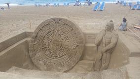 Enarene la escultura en la playa de Las Canteras, Las Palmas Fotografía de archivo libre de regalías
