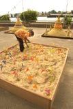 Enarene la pagoda en el Año Nuevo tailandés tradicional, festival de Songkran Fotos de archivo