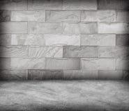 Enarene la pared de piedra y la textura concreta del piso, diseño del Grunge Foto de archivo libre de regalías