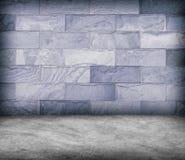 Enarene la pared de piedra y la textura concreta del piso, diseño del Grunge Imagenes de archivo