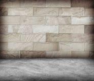 Enarene la pared de piedra y la textura concreta del piso, diseño del Grunge Fotos de archivo libres de regalías