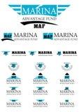 Enargy logo för marinafördelsfond Arkivbild