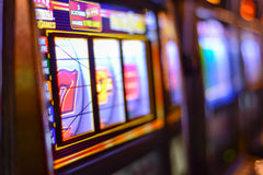 Enarmade banditer i Las Vegas Royaltyfri Foto