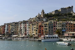 Enbankment and village, Portovenere Royalty Free Stock Photography