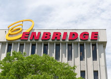 Enbridge Sign in Beautiful Blue Sky Stock Photography
