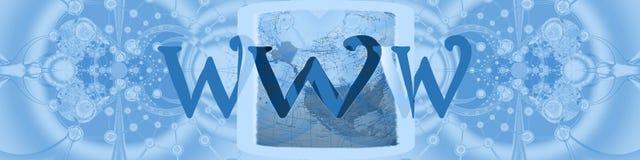Encabeçamento: conexões mundiais com o Internet Foto de Stock