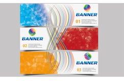 Encabeçamento Curvy da bandeira da onda abstrata usado para a promoção em Web site e em outro fotografia de stock