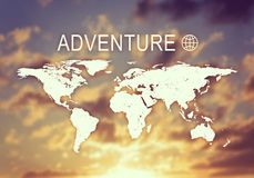 Encabeçamento da aventura Fotografia de Stock Royalty Free