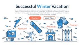 Encabeçamento da site - férias bem sucedidas do inverno ilustração stock