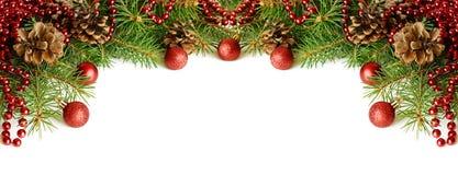 Encabeçamento das decorações do ano novo foto de stock royalty free