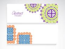 Encabeçamento do Web site ou grupo floral abstrato da bandeira Fotografia de Stock