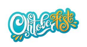 Encabeçamento escrito à mão da rotulação de Oktoberfest Projeto do vetor do título da tipografia de Oktoberfest ilustração do vetor