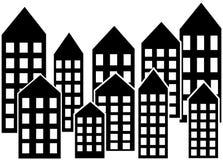 Encabeçamento ou bandeira da skyline da cidade Imagem de Stock