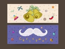 Encabeçamento ou bandeira da Web para a celebração do Feliz Natal Imagens de Stock