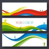 Encabeçamento ou bandeira do Web site para o conceito dos esportes Fotos de Stock