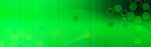 Encabeçamento retro do Web/verde da bandeira ilustração royalty free