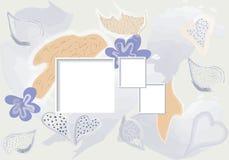 Encabeçamento surreal criativo da arte com formas e texturas diferentes collage Vetor ilustração royalty free