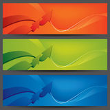 Encabeçamentos/bandeiras do Web site do vetor ilustração stock