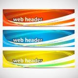 Encabeçamentos da Web, grupo de bandeiras Imagem de Stock