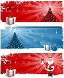 Encabeçamentos do fundo do Natal ilustração do vetor