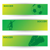 Encabeçamentos do futebol Fotos de Stock Royalty Free
