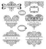 Encabeçamentos do vintage do casamento Imagens de Stock Royalty Free