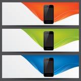 Encabeçamentos do Web site do vetor, bandeiras Fotografia de Stock