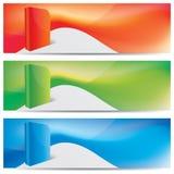 Encabeçamentos do Web site do vetor, bandeiras Imagens de Stock