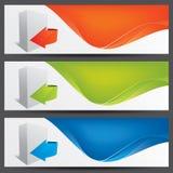 Encabeçamentos do Web site do vetor, bandeiras Foto de Stock