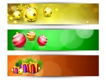 Encabeçamentos ou bandeiras do Web site por o ano novo feliz Imagens de Stock