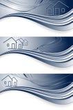 Encabeçamentos para bens imobiliários Imagem de Stock