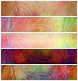 Encabeçamentos psicadélicos retros decorativos de Grunge Fotos de Stock Royalty Free